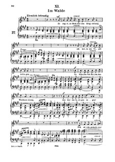 No.11 Im Walde (In the Wood): para voz media e piano by Robert Schumann