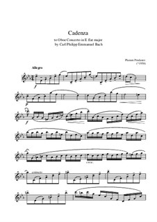 Cadenza to C.P.E. Bach Concerto for Oboe E flat major - First movement: Cadenza to C.P.E. Bach Concerto for Oboe E flat major - First movement by Plamen Prodanov