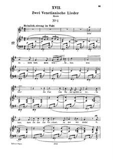 No.17 Venetian Song No.1: para voz media e piano by Robert Schumann