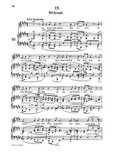 No.9 Wehmut (Melancholy): para voz media e piano by Robert Schumann