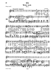 No.20 Weit, weit (Celui que j'aime est loin): para voz media e piano by Robert Schumann