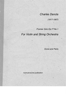 Three Concert Pieces, Op.77: Premier Solo by Charles Dancla