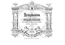 Symphony No.1 in C Minor, WAB 101: arranjos para piano de quatro mãos by Anton Bruckner