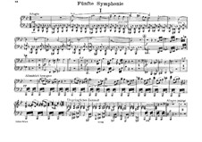Symphony No.5 in B Flat Major, WAB 105: arranjos para piano de quatro mãos by Anton Bruckner