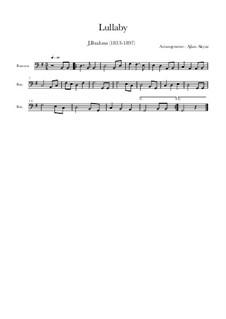 No.4 Cradle Song: para fagote e piano by Johannes Brahms