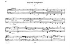 Symphony No.6 in A Major, WAB 106: arranjos para piano de quatro mãos by Anton Bruckner
