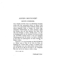 Symphony No.9 in D Minor, WAB 109: arranjo para piano by Anton Bruckner
