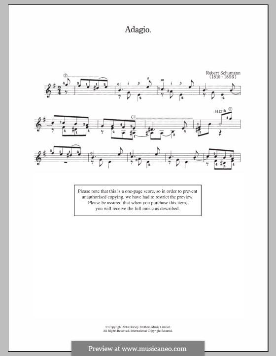 No.16 Erster Verlust (First Sorrow): Para Guitarra by Robert Schumann