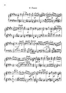 Partita for Violin No.3 in E Major, BWV 1006: Gavotte. Arrangement for piano by Johann Sebastian Bach