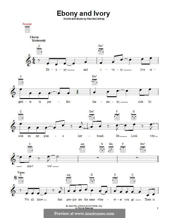 Ebony and Ivory: para ukulele by Paul McCartney