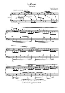 The Swan: Para Piano by Camille Saint-Saëns