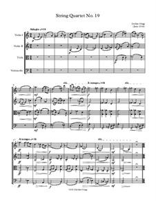 String Quartet No.19: String Quartet No.19 by Jordan Grigg