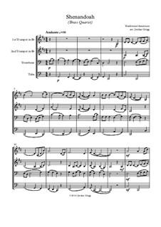 Shenandoah: para quarteto de bronze by folklore