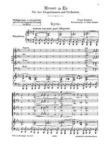 Mass No.6 in E Flat Major, D.950: Partitura piano-vocal by Franz Schubert