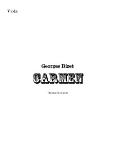 Complete Opera: Orchestral viola part by Georges Bizet