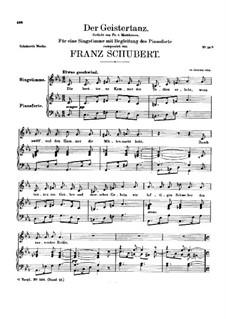 Der Geistertanz (Ghost Dance), D.116: Partitura piano-vocal by Franz Schubert