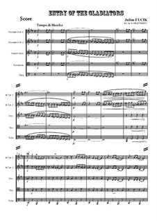 Entrance of the Gladiators, Op.68: Para quinteto de metais by Julius Fučík