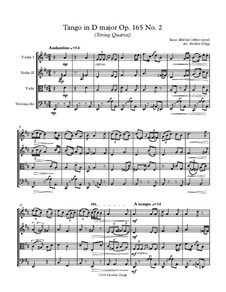 No.2 Tango: para quartetos de cordas by Isaac Albéniz