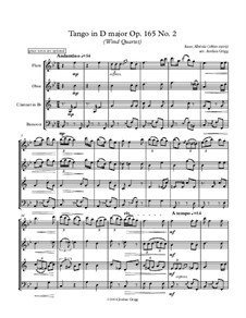 No.2 Tango: Para quarteto de sopro by Isaac Albéniz