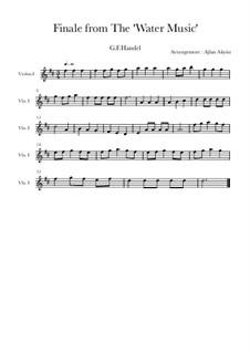 Finale: For piano quartet by Georg Friedrich Händel