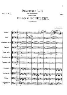 Der Spiegelritter (The Looking-Glass Knight), D.11: abertura by Franz Schubert