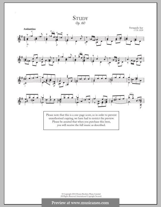 Twenty-Five Progressive Etudes, Op.60: Etude No.16 by Fernando Sor