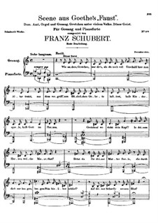 Scene from 'Faust', D.126: pimeira versão by Franz Schubert