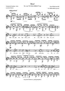 No.11 Mein (Mine): para voz e guitarra by Franz Schubert