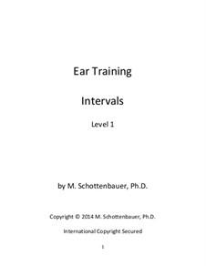 Ear Training: Intervals: Level 1 by Michele Schottenbauer