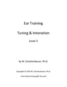 Ear Training: Tuning & Intonation: Level 2 by Michele Schottenbauer