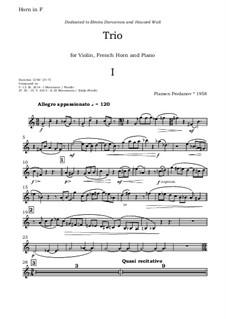 Trio for Violin, Horn and Piano: parte trompa by Plamen Prodanov