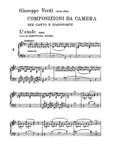 L'esule: L'esule by Giuseppe Verdi