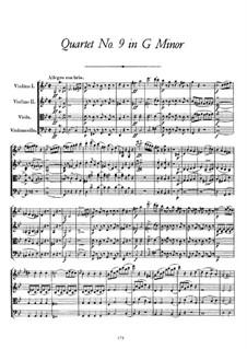 String Quartet No.9 in G Minor, D.173: Partitura completa by Franz Schubert