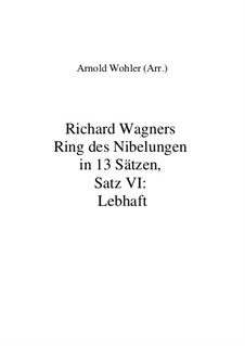 Fragmente (in 13 Sätzen): Satz VI: Lebhaft by Richard Wagner