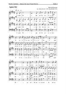 Missa Brevis (1995): Agnus Dei by Martin Klemenz