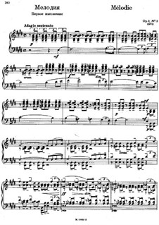 Morceaux de fantaisie, Op.3: No.3 Mélodie (first version) by Sergei Rachmaninoff
