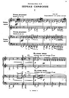 Symphony No.1, Op.13: arranjos para dois pianos de quatro mãos by Sergei Rachmaninoff