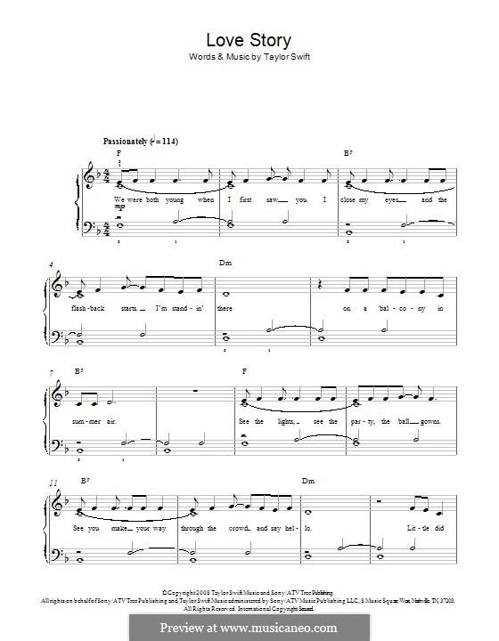 Love Story: Para Piano by Taylor Swift