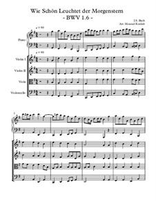 Wie schön leuchtet der Morgenstern, BWV 1: para orquestra de camara by Johann Sebastian Bach
