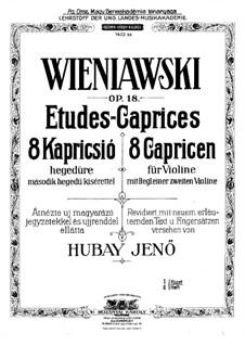 Eight Etudes for Two Violins, Op.18: Etudes No.5-8 by Henryk Wieniawski