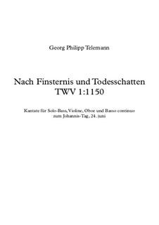 Cantata 'Nach Finsternis und Todesschatten'. Aria No.1, TWV 1:1150: Cantata 'Nach Finsternis und Todesschatten'. Aria No.1 by Georg Philipp Telemann