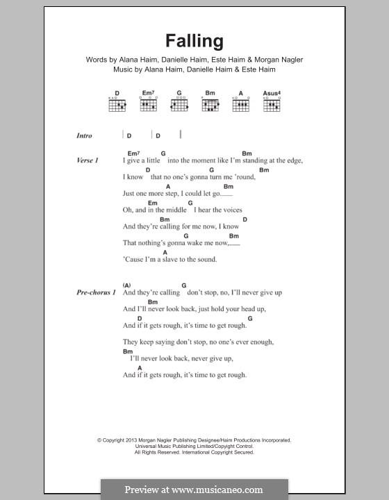 Falling (Haim): Letras e Acordes by Alana Haim, Danielle Haim, Este Haim