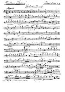 Unterm Balcon. Serenade für Cello und Streichorchester, Op.78: Cello Solo Stimme by Richard Wüerst