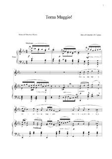 Torna Maggio!: Para vocais e piano by Eduardo di Capua