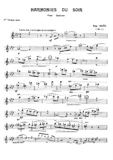 Harmonies du soir, Op.31: Soloists parts by Eugène Ysaÿe