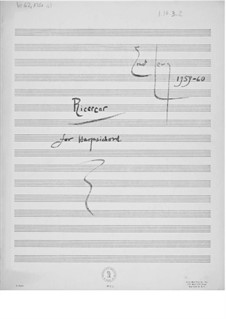 Ricercar for Harpsichord: For a single performer by Ernst Levy