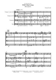 Fab's final song: para quarteto de bronze by Thomas Hans Graf
