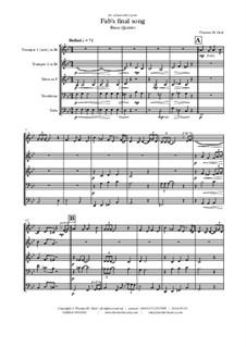 Fab's final song: Para quinteto de metais by Thomas Hans Graf