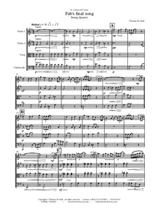 Fab's final song: para quartetos de cordas by Thomas Hans Graf