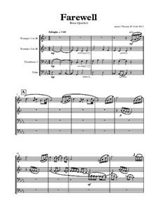 Farewell: para quarteto de bronze by Thomas Hans Graf